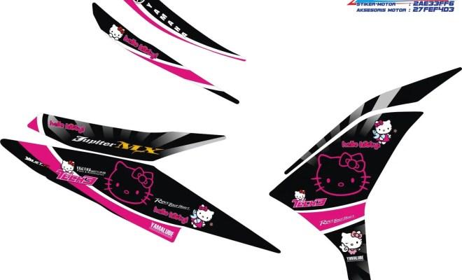 striping modifikasi yamaha new jupiter mx hello kity