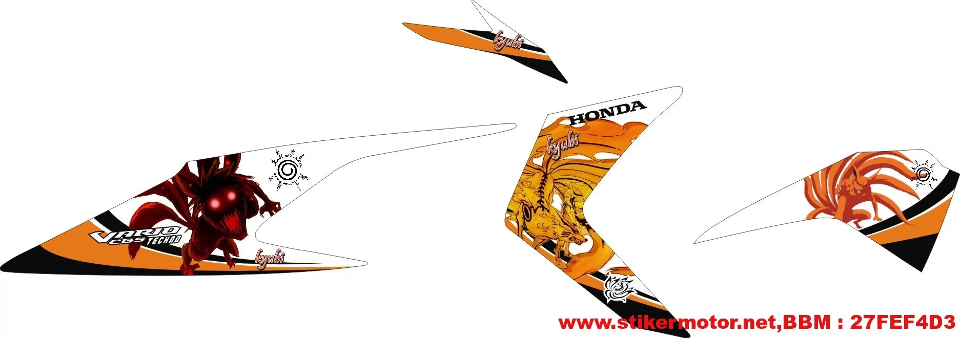 Striping modifikasi honda vartech naruto