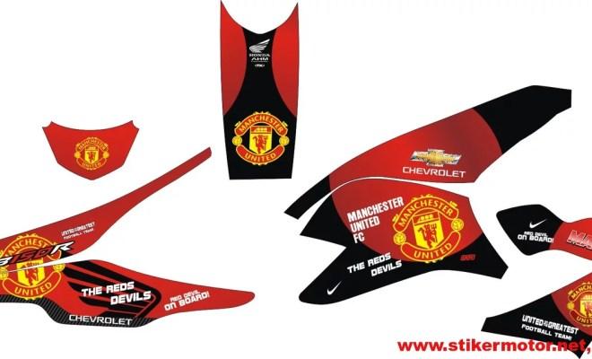 striping modifikasi honda cb150 Manchester United