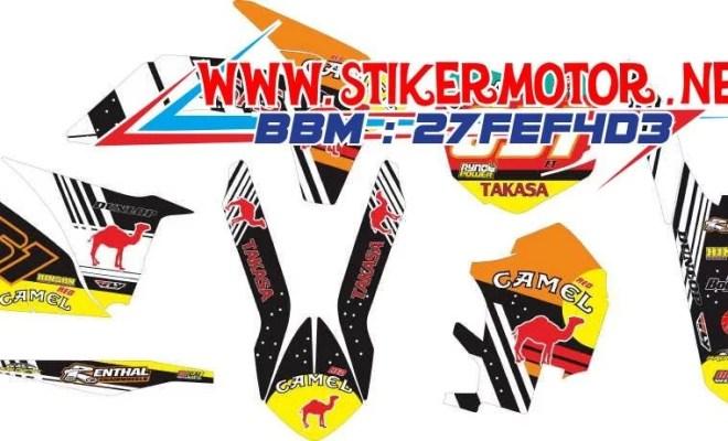 striping motor KTM 2015 camel