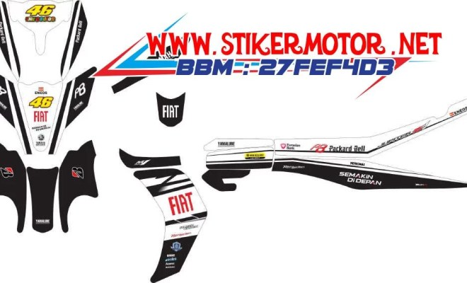 striping motor new jupiter z fiat fb hitam