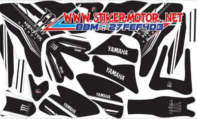 striping motor R25 monster energy final black