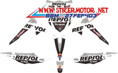 striping motor REVO REPSOL BLACK