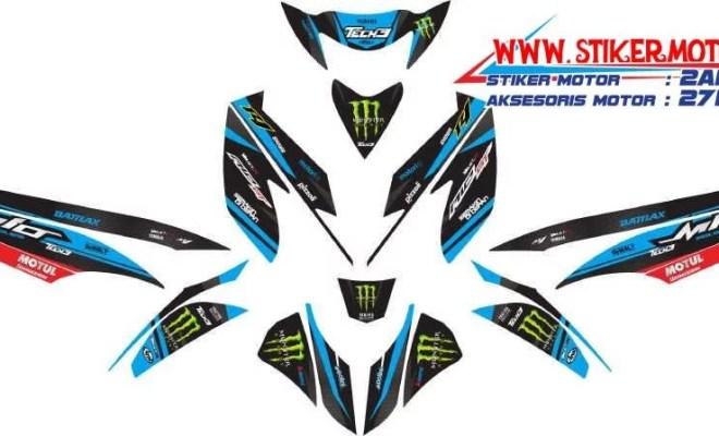 striping motor mio gt monster energy biru