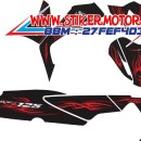 striping motor supra x 125 new TRIBAL red v2 fb