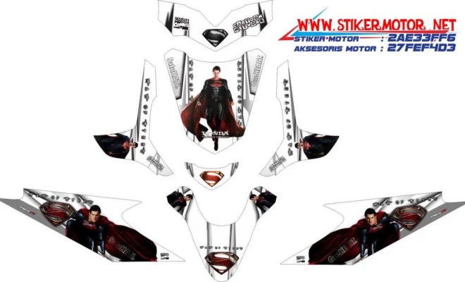 striping motor honda beat superman man of steel v2