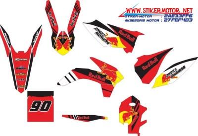 striping motor trail ktm 2015 red bull merah hitam