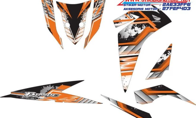 striping motor honda new blade honda orange ice
