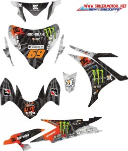 stiker motor yamaha new jupiter mx hooonigan black