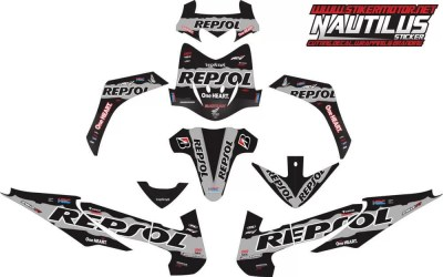 STICKER STRIPING DECAL MOTOR ABSOLUTE REVO repsol