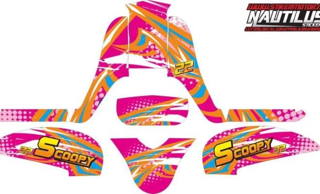 Stiker Motor Scoopy fi road race v2