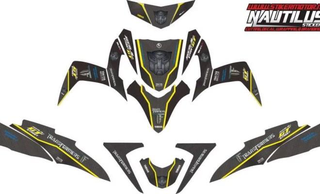 Stiker Motor Soul GT transformer carbon