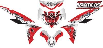 Stiker new soul gt 125 blue core tribal v2
