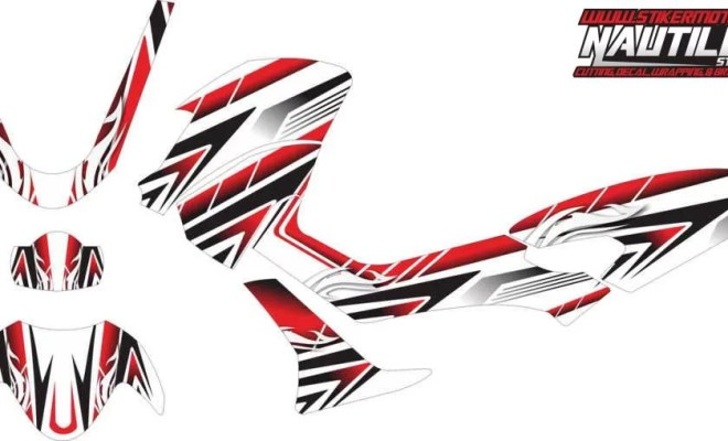 Stiker nmax tribal racing