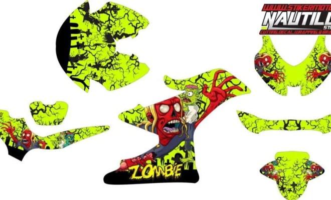 stiker motor suzuki GSX-R150 zombie