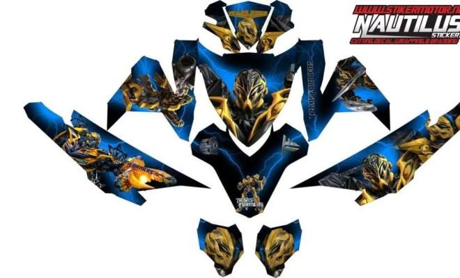 Stiker Motor vario esp transformers bumble bee v2