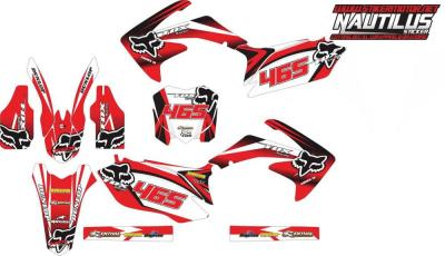 Stiker CRF 250 2013 fox racing
