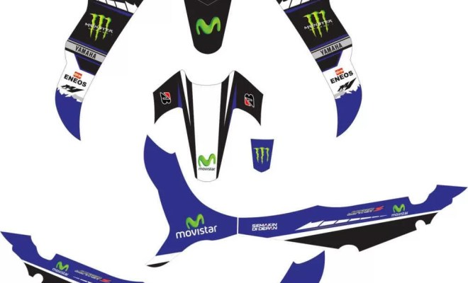 Stiker Jupiter Z movistar moto gp