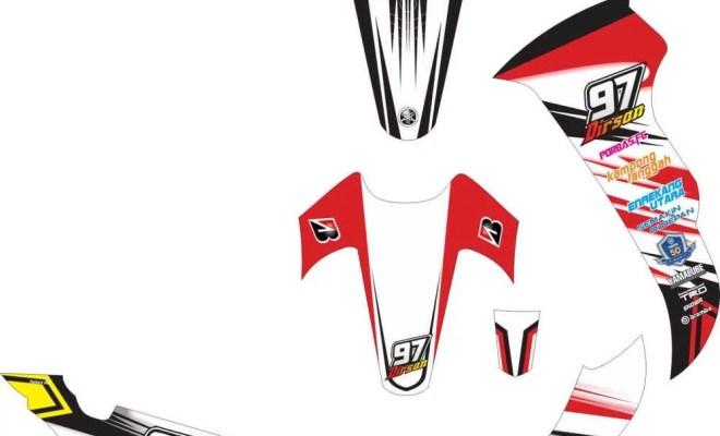 Stiker Jupiter Z racing
