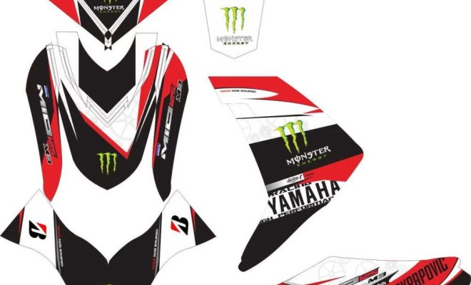 Stiker MIO M3 monster energy