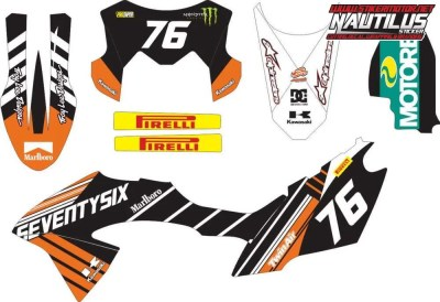Stiker klx bf decal 2
