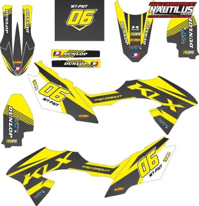 Stiker klx bf decal 3 carbon