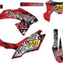 Stiker klx bf tribal red