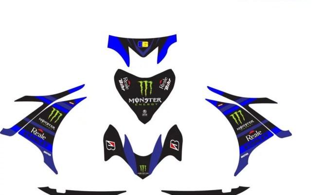 Stiker new jupiter mx tech 3 biru