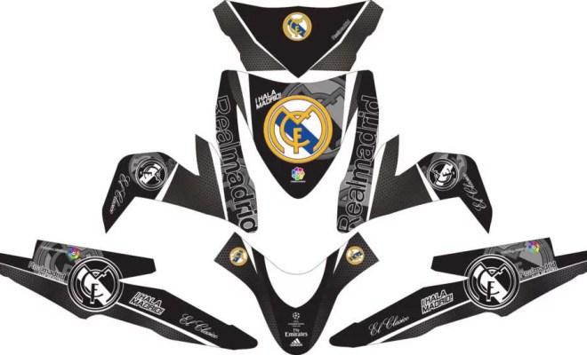 Stiker ALL NEW BEAT ESP real madrid black