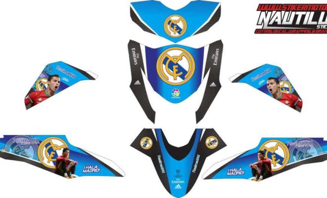 Stiker beat fi real madrid blue
