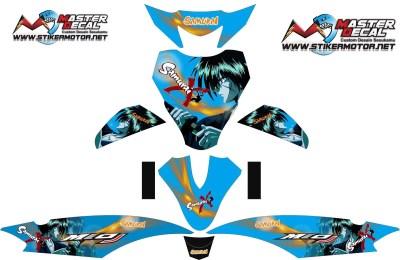Stiker MIO J samurai X blue