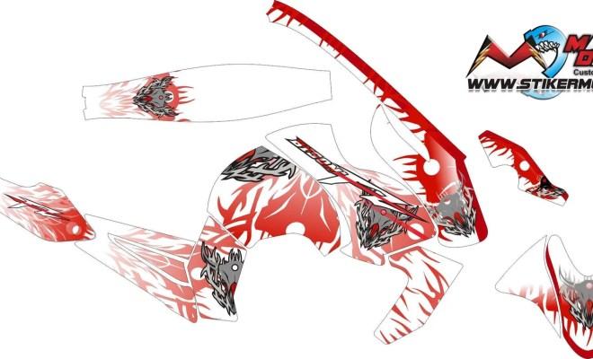 Stiker byson tribal red