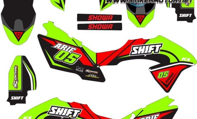 Stiker klx bf shift