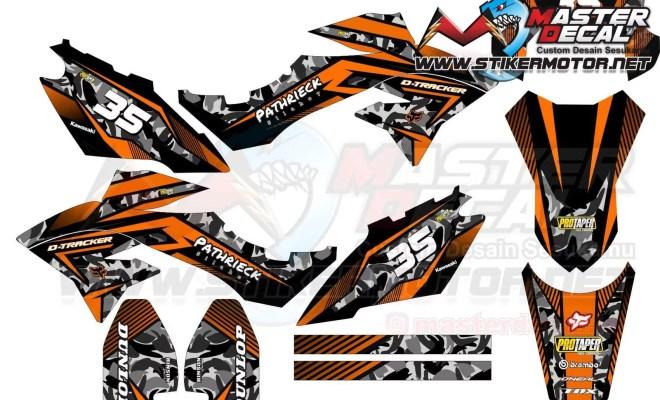 Stiker d-tracker tribal orange