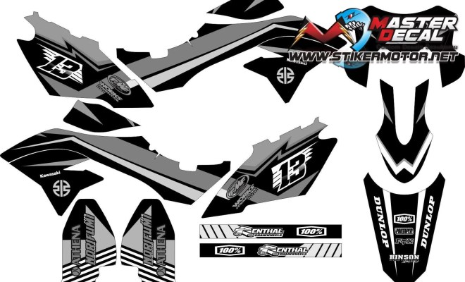 Stiker dtracker bf simple tech grey