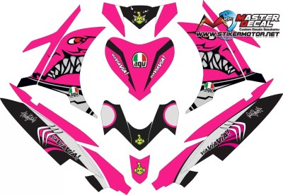 Stiker new jupiter mx SHARK ping