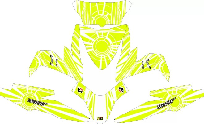 Stiker ALL NEW BEAT ESP sunmoon white2
