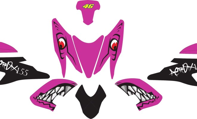 Stiker aerox 155 shark purple