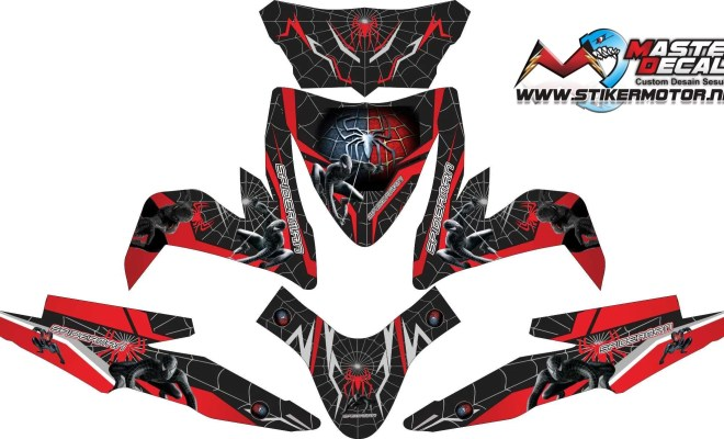 Stiker all new beat esp spiderman 3 v3