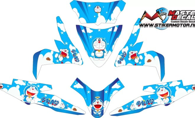 Stiker all new beat esp street doraemon