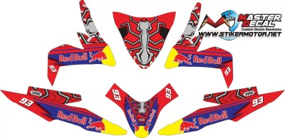 Stiker all new beat esp street shoei x14 marc marquez