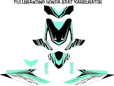 Stiker beat carbu blach hitech