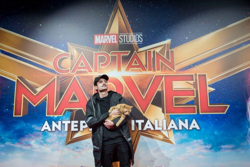 Fabio Rovazzi per il party di Capitan America