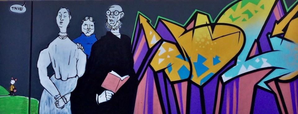 Farb- und Stilberatung hinter der Graffiti-Wand in Gostenhof.