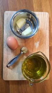 Zutaten für fermentierte Mayonnaise