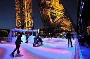 Eiffel Tower Ice skating
