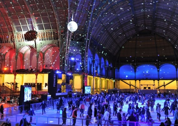 Ice Skating at Grand Palais at Christmas - Paris