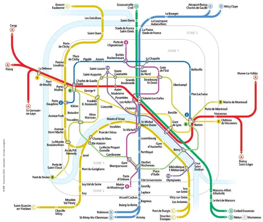 nouvel an Paris Metro