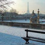 Paris in February - under snow
