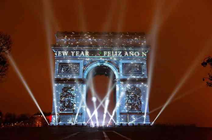 Celebrations at the Arc de Triomphe